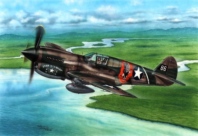 72338 Special Hobby Самолет P-40E Warhawk 'Claws and Teeth' 1/72