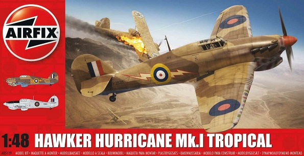 A05129 Airfix Самолет Howker Hurricane Mk.I Tropical Масштаб 1/48