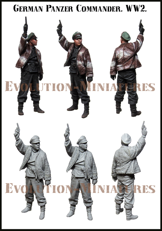 EM35178 Evolution Miniatures Германский танкист WWII 1/35
