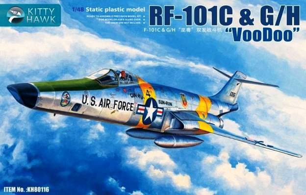 "KH80116 Kitty Hawk Самолет RF-101C & G/H ""Voodoo"" 1/48"