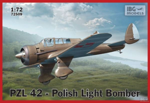 Сборная модель 72509 IBG Models PZL 42 Polish Light Bomber