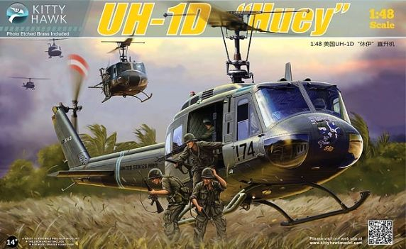 KH80154 Kitty Hawk Вертолет UH-1D Huey Масштаб 1/48